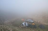 Camp site in the clouds