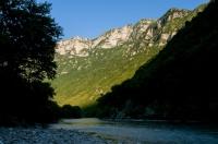 Vjosë river near Këlcyrë