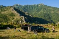 Camp site in southern Albania