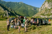 Packing out to mountains, southern Albania
