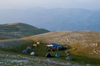 Camp site, southern Albania