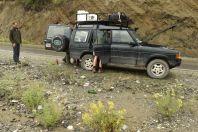 Flat tire, SE Albania