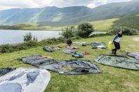Tents drying, Orikum