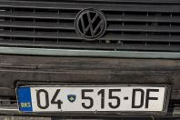 Kosovo number plate