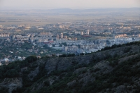 Sliven from Sinite kamani and the Upper Thracian Plain