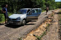 Hard terrain near Pismenovo