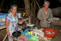 Preparation of dinner, Tarcoles