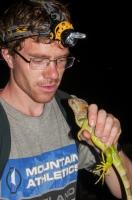 Boris and iguana, Tarcoles