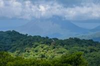 Sopka Arenal z Reserva de Santa Elena