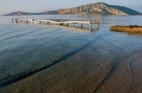 Pláž na poloostrově Messenia