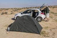 Camp in Negev desert