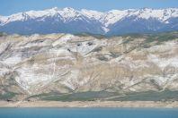 Salt Mountains and Toktogul Reservoir