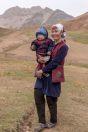 Women with a child, Kyzyleshme