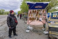 Fish sale, Balykchy