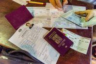 Visa, Lao border