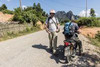 On motor-bike, Vangvieng