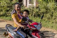 On the motor-bike, Vangvieng