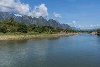 Nam Song river, Vangvieng