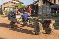 Tractor, unnamed village, Savannakhet Province
