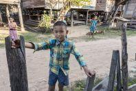 Kids, unnamed village, Savannakhet Province