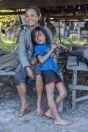 Mom with girl, unnamed village, Savannakhet Province