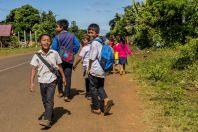 Schoolchildren, Bolaven plateau