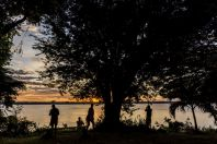 Sunrise, Mekong, Muang Champassak