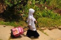 A girl in Kuala Tahan