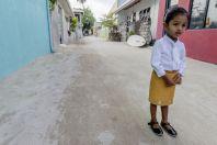 Maldivian girl, Huraa