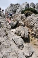 Climbing on Velky Rozsutec