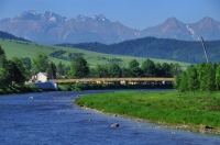 Dunajec river and High Tatras