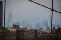 Midtown z Brooklynského mostu, NYC