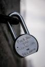 Lock on Brooklyn Bridge, NYC