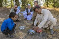 Oběd, Národní Park Chitral Gol