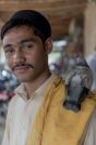 Man and pigeon, Shahbaz Khel