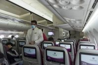 On the board, Qatar airways