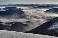 Z vrcholu Stohu směrem na Západní Tatry