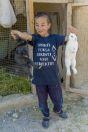 Boy with rabbits, Yanakishlak