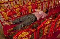 Sleeping man, Imperial City, Hue