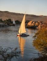 Felucca sailing boat, Aswan