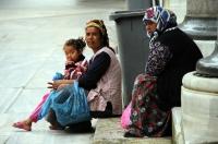 Obyvatelé okolí mešit v Edirne