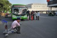 Bus to centrum of New Delhi