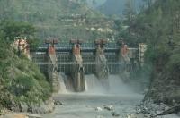Hydroelektrárna na Ganze.