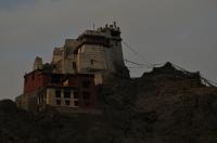 The ruined Royal Palace at Leh