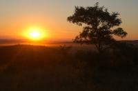 Západ slunce nad Burdou.